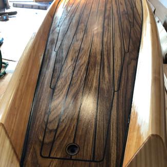 SUP Paddle glassed in super sap epoxy