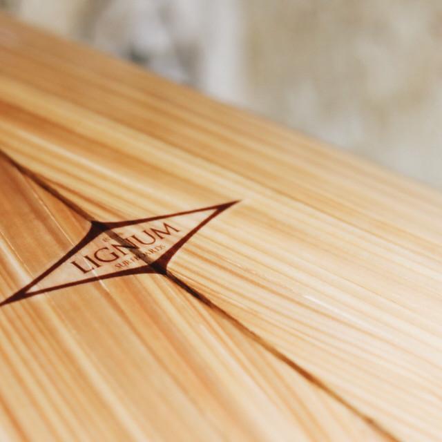 Wooden board glassed wirh eco epoxy for lignum