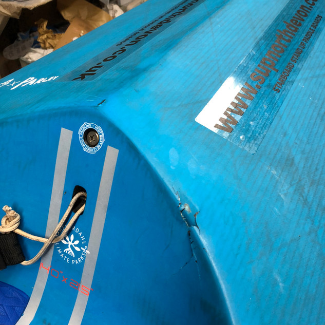 SUP repair bantham devon, south devon repair, ding reapir, foil repair, surfboard repair