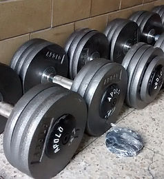 mancuernas olimpicas 4 a 50 kgs
