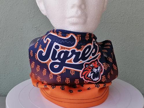 Cubrebocas Beisbol Buff Deportivo Tigres Face Shield Tubular