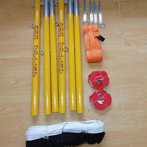 Voleibol de Playa Kit: Lineas de Cancha, Postes y Red