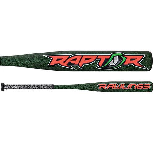 BAT RAWLINGS RAPTOR 27x16 -11oz BARRIL 2 1/4 VERDE