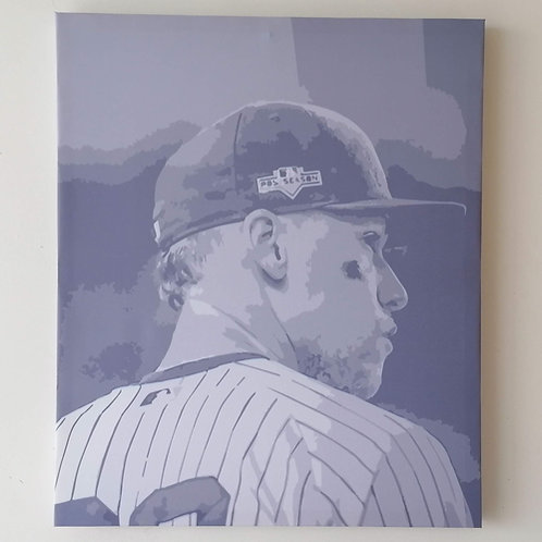 Canvas Aaron Judge Yankees New York Cuadro 38.5 X 46 Cms