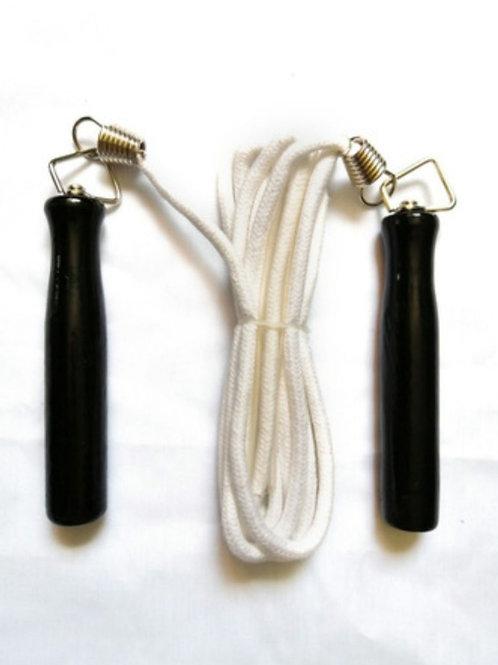Cuerda para saltar Comax con mango de madera.