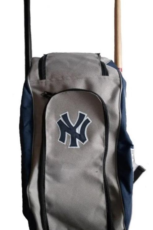 Batera Maleta Backpack Yankees Gris Azul Marino