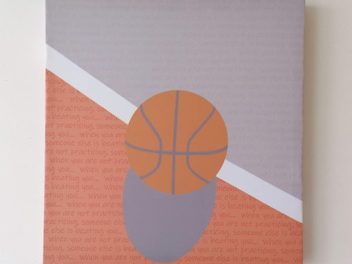 Canvas Balon Basquetbol Baloncesto Cuadro 38 X39 Cms