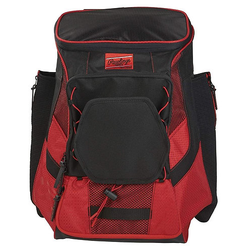 Batera Rawlings Roja Players Backpack Rojo Maleta