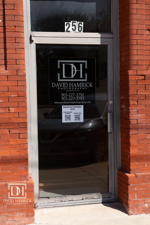 David Hamrick Photography storefront door