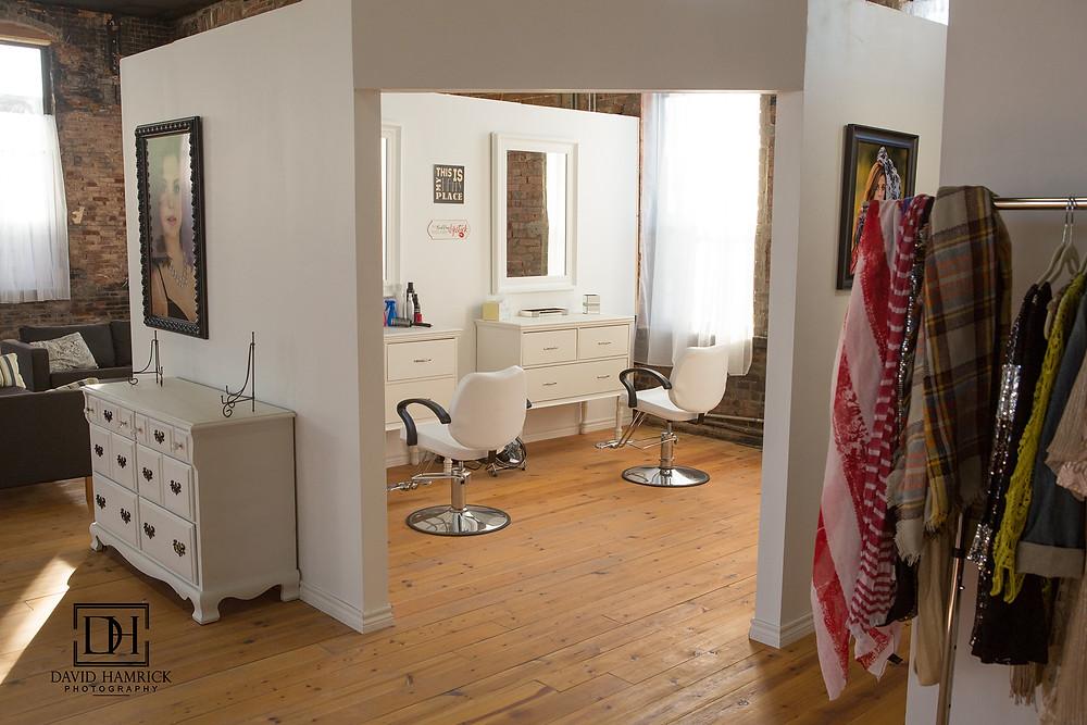 David Hamrick Photography Van Alstyne, TX Hair and Makeup area