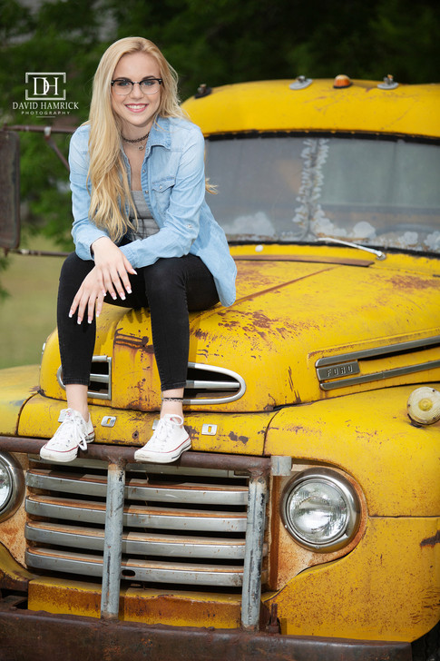 Kara on Yellow Truck Anna Senior