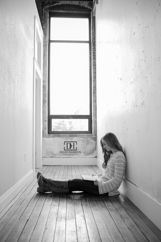 Anna High School Senior Madison Hemenway at David Hamrick Photography studio