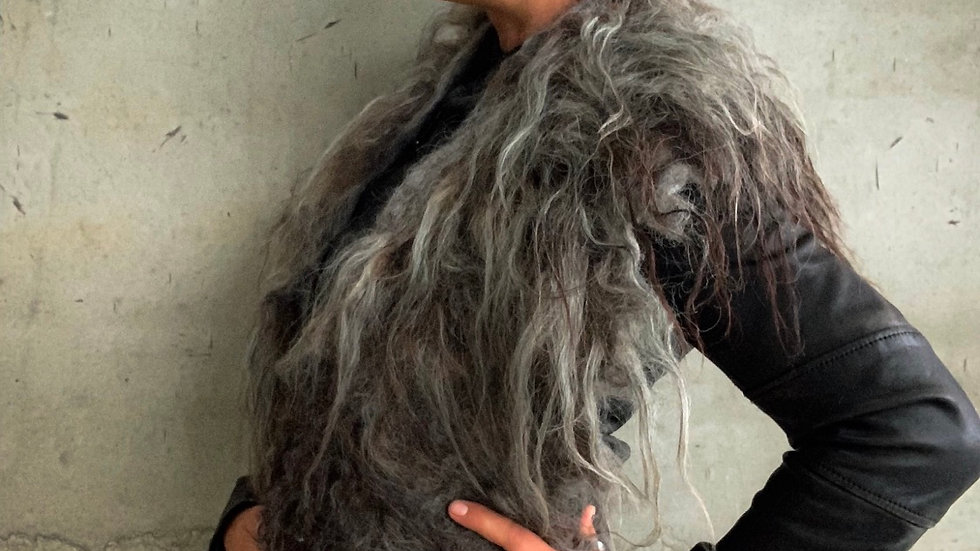 Wild Silver Wool Collar