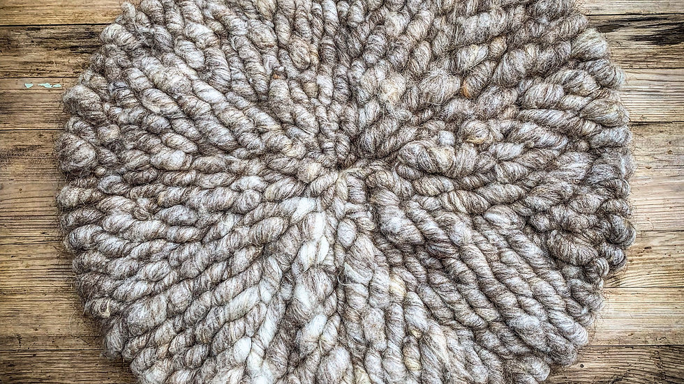 Hand Woven Wool Chair cushion.