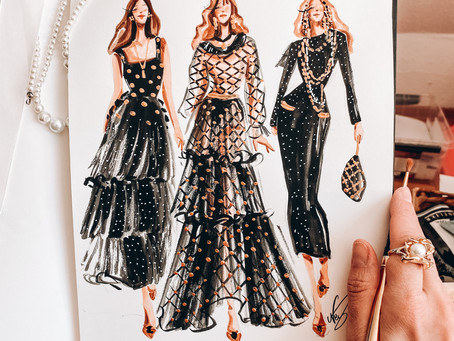 Daily Illustration - Chanel Runway Métiersd'art 2020/21