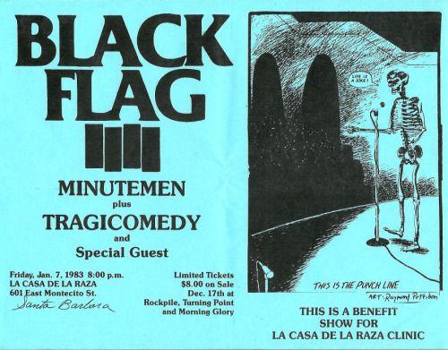 Tragicomedy Opens for Black Flag
