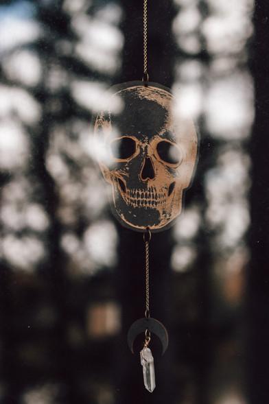 Skull wall hanging