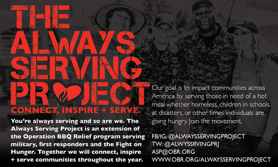 """The Always Serving Project 3x5"""" Cards"""