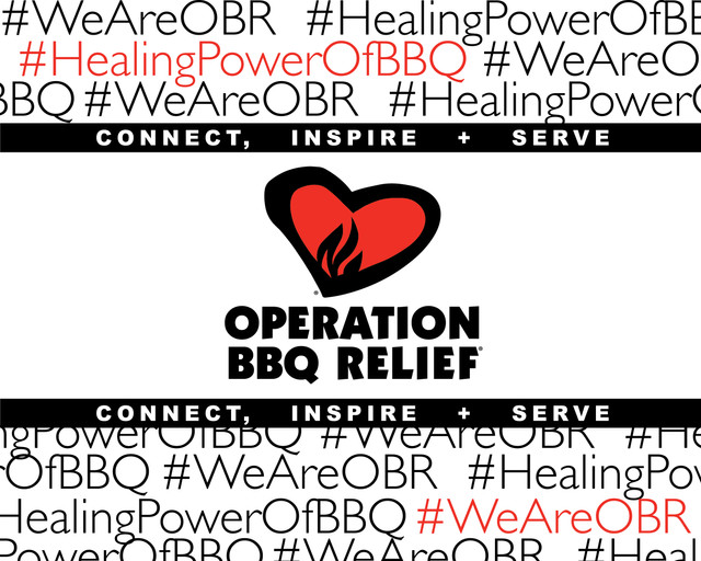 Operation BBQ Relief Step and Repeat Banner