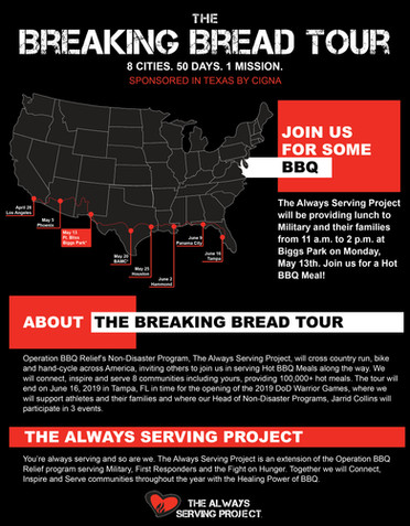 Breaking Bread Tour Serving Flyer