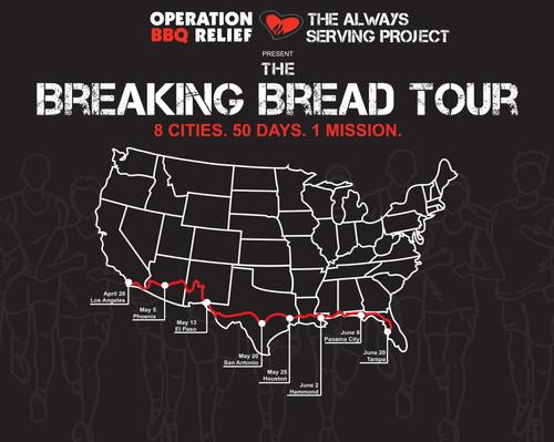 Breaking Bread Tour 8'x10' Banner