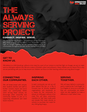 The Always Serving Project Flyer Page 1