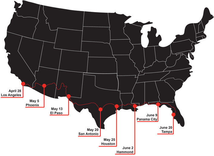 The Breaking Bread Tour Map Graphic