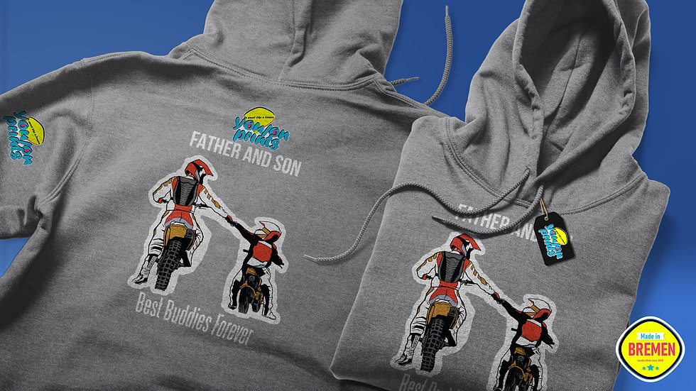 Unisex Kapuzenpullover (Hoodie) 'Fatherandson-Bike'