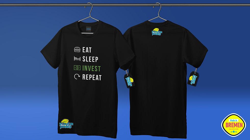 T-Shirt 'Eat,Sleep,Invest,Repeat'