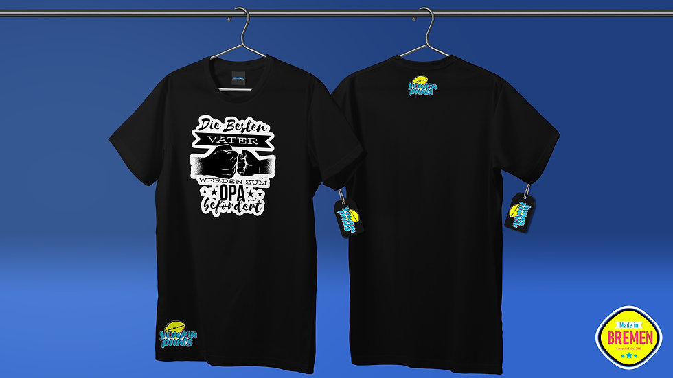 T-Shirt 'Die besten Väter'