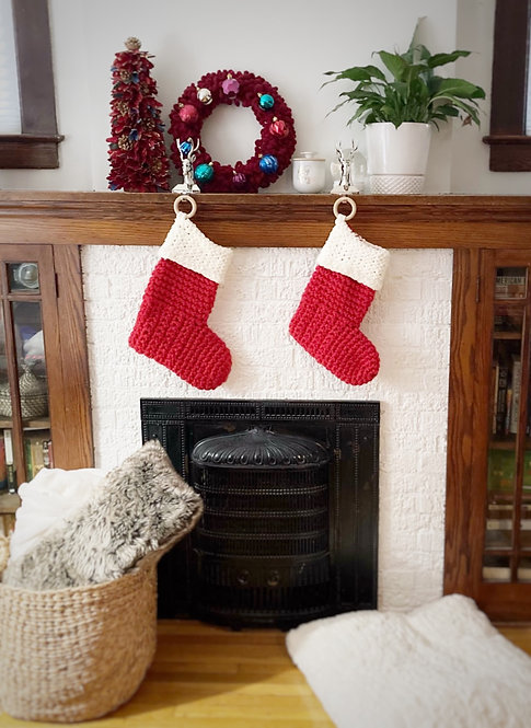 Red & Cream - Holiday Stocking