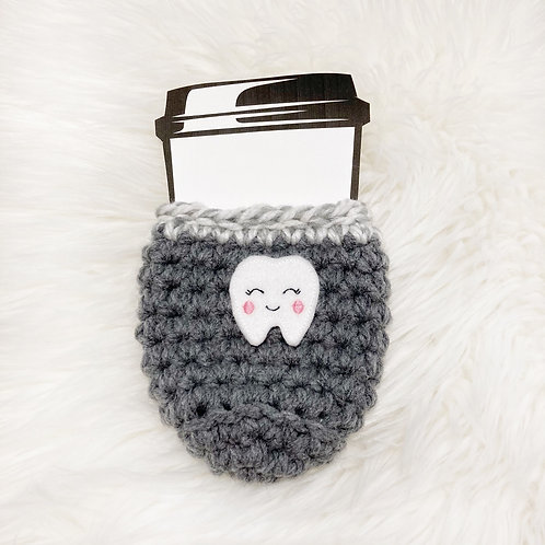Tooth - Dark Grey & White Cup Cozy
