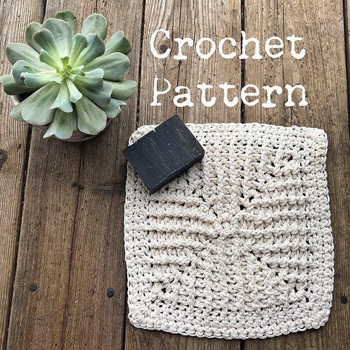Starburst Washcloth - Crochet Pattern