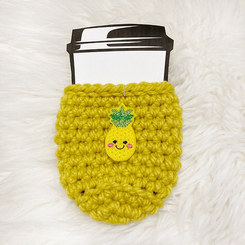 Pineapple - Yellow Cup Cozy