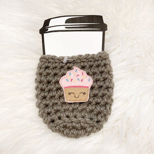 Cupcake - Taupe Cup Cozy