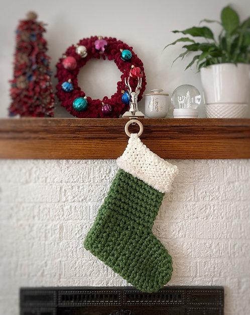 Green & Cream - Holiday Stocking