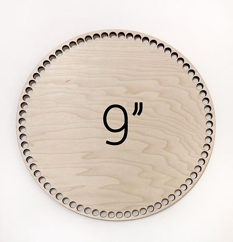 "9"" Round Wood Basket Bottom"