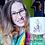 Thumbnail: Four Eleven Pottery Mug - Pin-Up Girl (knitting)