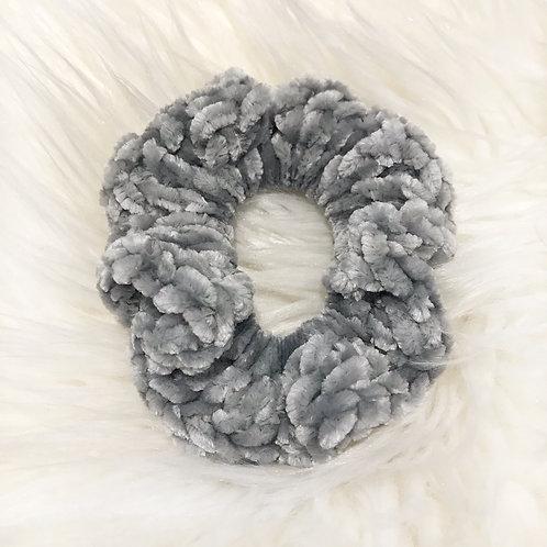Smokey Green - Velvet Scrunchie
