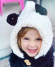 Aria is wearing our panda hooded cowl in