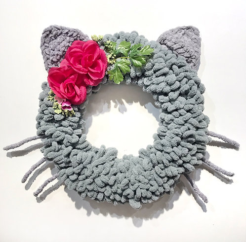 Grey Cat Wreath