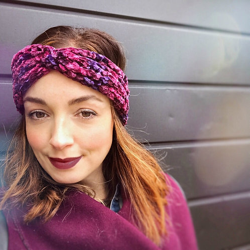 Reversible Ear Warmer - Crushed Velvet