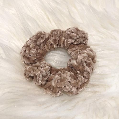Mushroom - Velvet Scrunchie