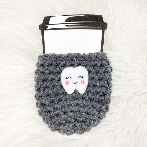 Tooth - Dark Grey Cup Cozy