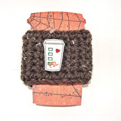 PSL - Brown Tweed Cup Cozy