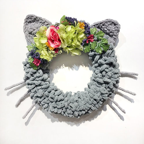 Grey Cat Wreath