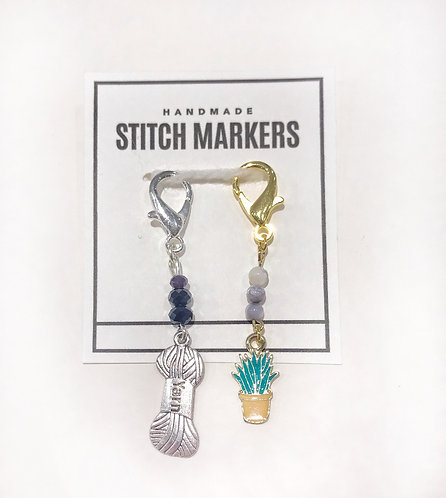 Stitch Markers - Planter & Yarn