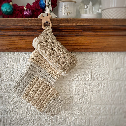 Taupe & Grey - Kids Holiday Stocking