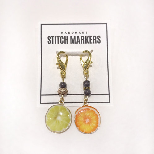 Stitch Markers - Lemon & Orange