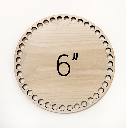 "6"" Round Wood Basket Bottom"